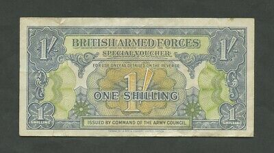 BRITISH ARMED FORCES  1 sh  1946  1st Issue  About VF  England Banknotes
