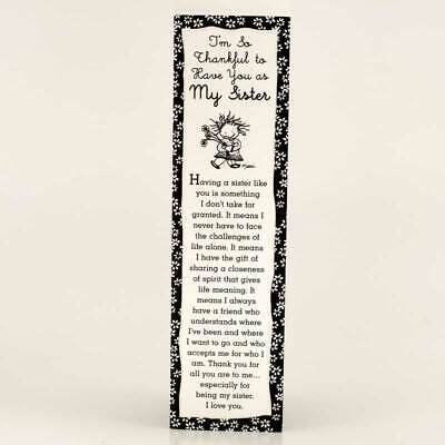 Blue Mountain Arts: Thankful To Have You As My Sister Bookmark Bookend Gift