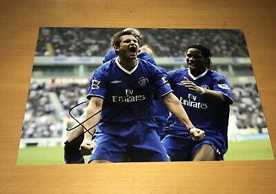 Frank Lampard Chelsea Hand Signed Photo 12x8 *PROOF SHOWN*