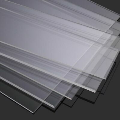 Bespoke Clear Transparent Perspex Styrene Sheet Custom Cut to ANY SIZE