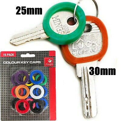 KEY CAP IDENTIFIER RINGS Rubber Cover Door Lock ID Colour Code Tag Marker Large