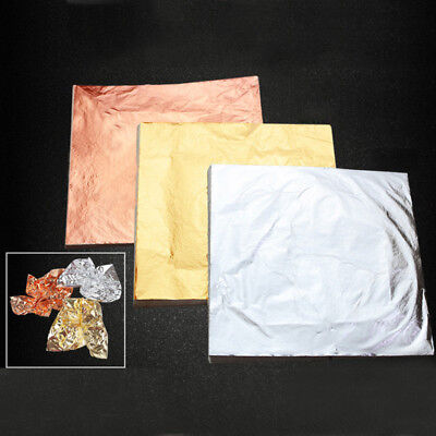 choose kit Large Imitation Mix Pure Gold Silver Copper Leaf Sheets 140mmx140mm
