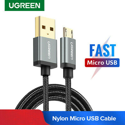 Ugreen 2.4ABraided Micro USB Cable Fast Charging Lead Data Cord for Xiaomi HTC M