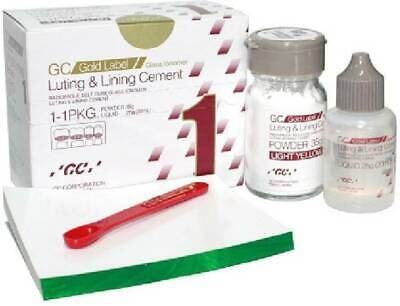 5x Dental GC Fuji I luting & lining gold lable cement 35gm + SPATULA  FREE SHIP