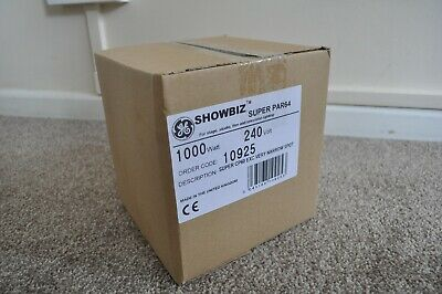 SHOWBIZ Super PAR64 1000W Watt CP60 EXC Very Narrow Spot 10925 - New Lamp Bulb