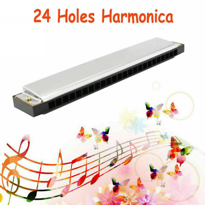 Kids Professional 24 Hole Harmonica Key of C Mouth Organ for beginners with Box