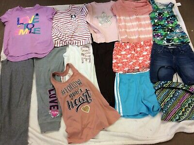 Lot Of 14 Girls Size 10-12 Mudd Lily Bleu Gap Kids Tractr