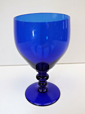 Antique Bristol Blue Double Knopped Rummer