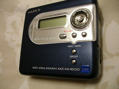 Sony MZ-NH600 Personal Hi MD MiniDisc Player / Recorder - Faulty