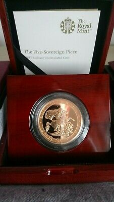 2017 Royal Mint - £5 Five Pound Sovereign Piece  200th Anniversary - Mint Boxed