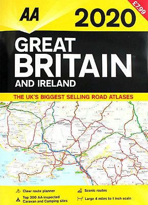 AA 2020 Road Atlas Map Great Britain & Ireland UK Latest Edition PB Book NEW