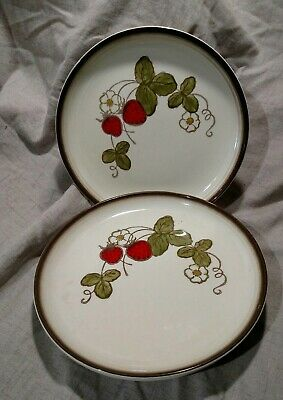 3-Metlox Poppy Trail Strawberry California Pottery Salad Plates 8""