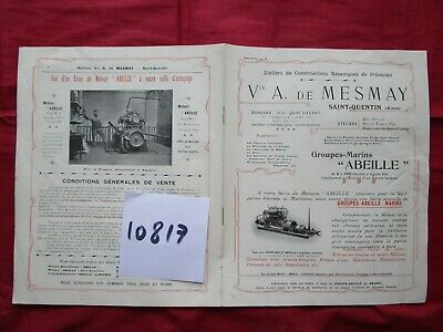 N° 10817 /  catalogue A.de MESMAY groupes marins ABEILLE 1905-1910  st QUENTIN