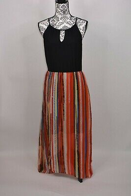 eci New Your Women's  Printed Maxi Dress  Multi Color  Size Medium