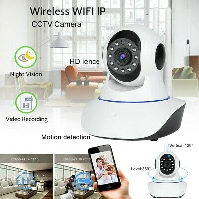 1080P HD Wireless WIFI IP CCTV Camera Smart Home Security Night Vision Indoor UK