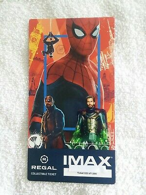 SPIDER-MAN FAR FROM HOME #222 of 1000 MARVEL Collectible Regal IMAX Ticket