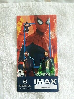 SPIDER-MAN FAR FROM HOME #200 of 1000 MARVEL Collectible Regal IMAX Ticket