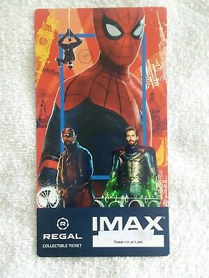 SPIDER-MAN FAR FROM HOME #111 of 1000 MARVEL Collectible Regal IMAX Ticket