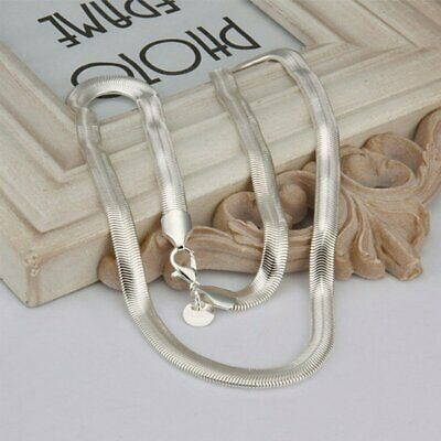 5pcs Fashion 16-30 Inch Silver Solid 6MM Snake Necklace Chain Men Women Hot Gift