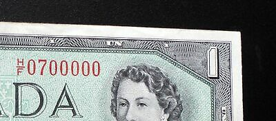 1954 BANK OF CANADA $1 Dollar Cool *2 Digit Serial* H/F 0700000  BC-37b-i