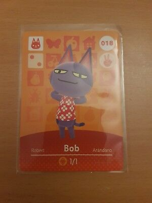 animal crossing new leaf welcome  amiibo card bob 18