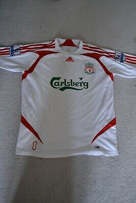 Liverpool Away Shirt Size Medium Year 2007/2008 Gerrard Alonso YNWA Mane Salah