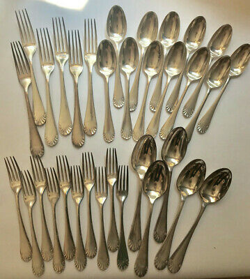Vintage/Antique Christofle 33pc Flatware Silverplate Directoire RatTail Pattern