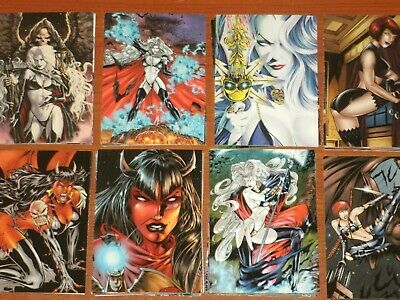 LOVE BITES 'Lady Death & The Women Of Chaos!' Complete Set Fantasy Trading Cards