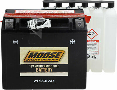 Moose Utility 2113-0050 Factory-Activated AGM Maintenance-Free Battery