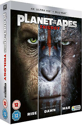 Planet Of The Apes Trilogy (4K Ultra HD) Rise / Dawn / War New