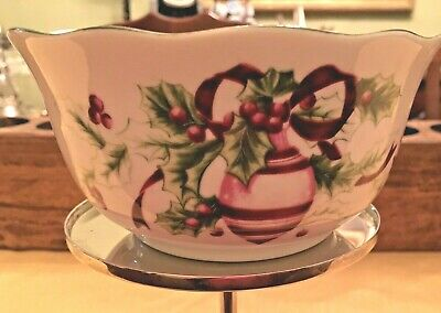 Charter Club  WINTER GARLAND  Macy's  Cereal Bowl Christmas Holidays