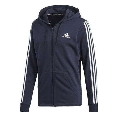Adidas 3S Full Zip Hoodie – Navy (Size Medium) - NEW with tags