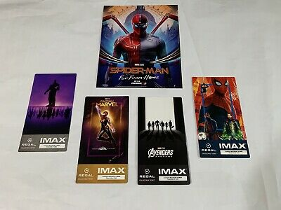 Marvel Avengers Endgame IMAX Collectible Ticket Regal Spider-Man Poster