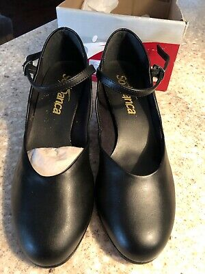 NEW CH 50 So Danca Leather Character Shoes Black Size 5 1/2 M Womens/Teen