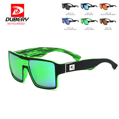 DUBERY Mens Vintage Polarized Sunglasses Driving Square Outdoor Fishing Shades