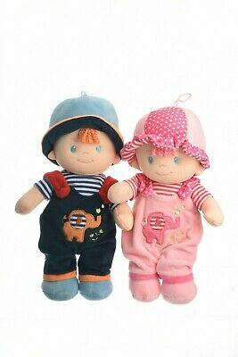 Ella and Ollie Tant Twin Rag Dolls Bundle toy for babies and young children