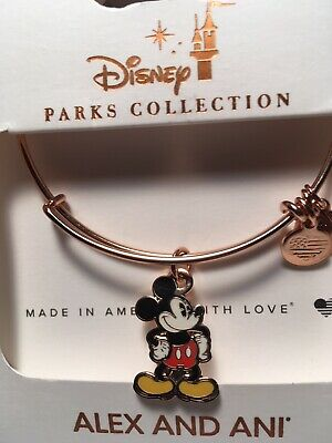 Disney Alex & and Ani Mickey Mouse Icon Filigree Rose Gold Bracelet