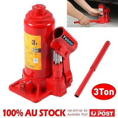 3 Ton Hydraulic Bottle Jack Support Stand Car Truck Vehicle Lifting Repair Tool