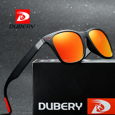 DUBERY Mens Womens Vintage Polarized Sunglasses Driving Fishing Eyewear Shades