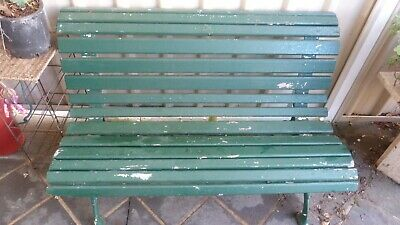 Antique Cast Iron Park Bench