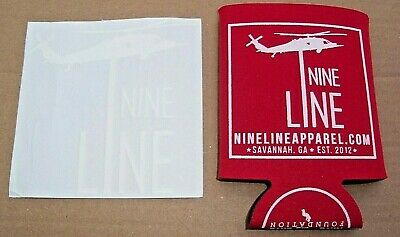 Nine Line Apparel Beer Can Koozie Cooler & Decal Sticker Set New!