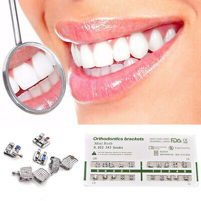 20pcs Dental Orthodontic Ultrathin Metal Brackets Roth 345 Hook Tool Acces