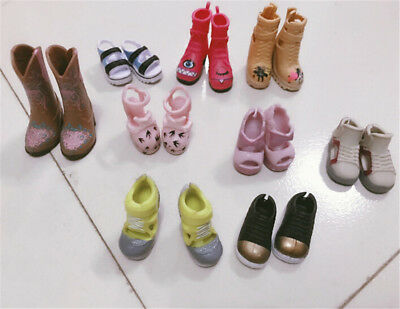 1Pair Fashion High Heels Boots Shoes For Doll Accessories Kids Toys C&E