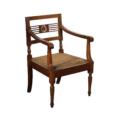 Neoclassical Armchair Straw Seat Italy 18th Century