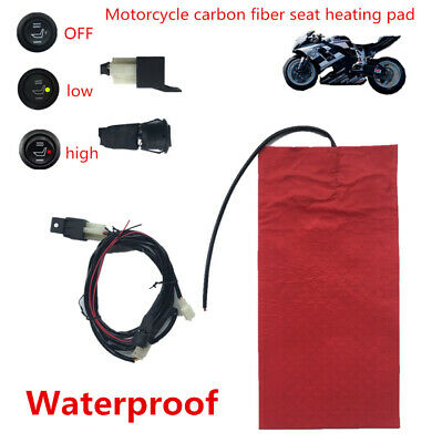 25W Safe & Reliable Motorcycle Heating Seat Pad High /Low with a Circular Switch