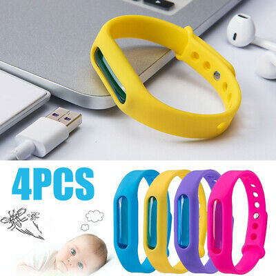 4pcs Anti Mosquito Bands Insect Essential Oil Bug Repellent Bracelet Repeller