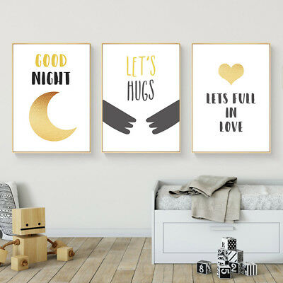 Abstract Wall Art Canvas Poster Nursery Quote Prints Kids Bedroom Decoration
