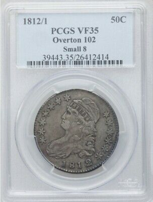 1812/1 Small 8 PCGS VF 35 Capped Bust Half Dollar
