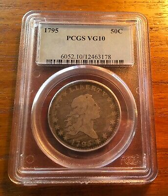 1795 Flowing Hair Half Dollar 50 C Pcgs Vg10