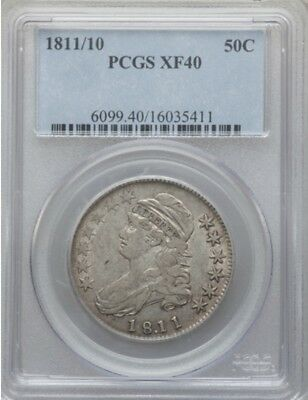 1811/10 Capped Bust Half Dollar Pcgs Xf 40